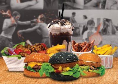 Burgers, Chips and Milkshake